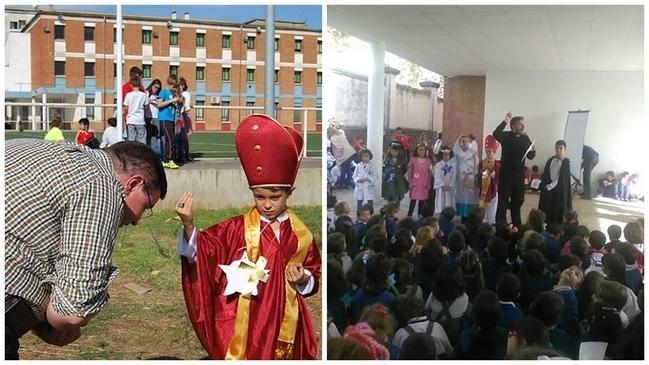 El colegio Diocesano de C�ceres celebra 'Holywins' con disfraces de santos y de diferentes profesiones