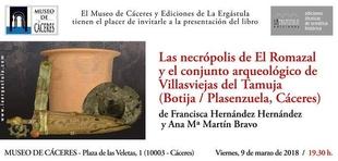 Museo de Cáceres presentacion del libro las necròpolis de el Romazal y el conjunto Arqueològico de Villaviejas de Tamuja