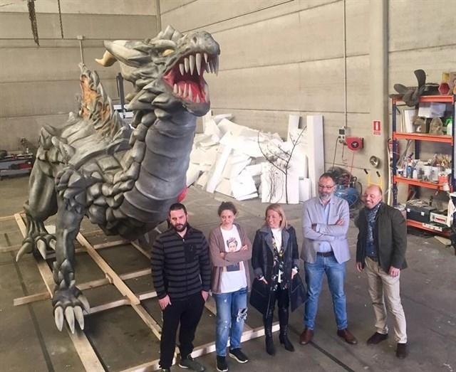 Suspendida la exhibición del dragón de San Jorge en Cáceres y en riesgo el desfile por las tormentas