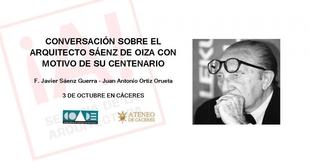 El Ateneo de Cáceres ofrece ''Conversación sobre el arquitecto Francisco Javier Sáenz de Oiza'' este miércoles
