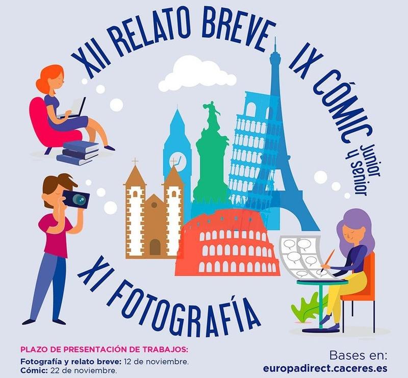 El Centro Europe Direct del Ayuntamiento lanza la XII Edición de relato breve, la XI Edición de Fotografía y la IX Edición de Cómic