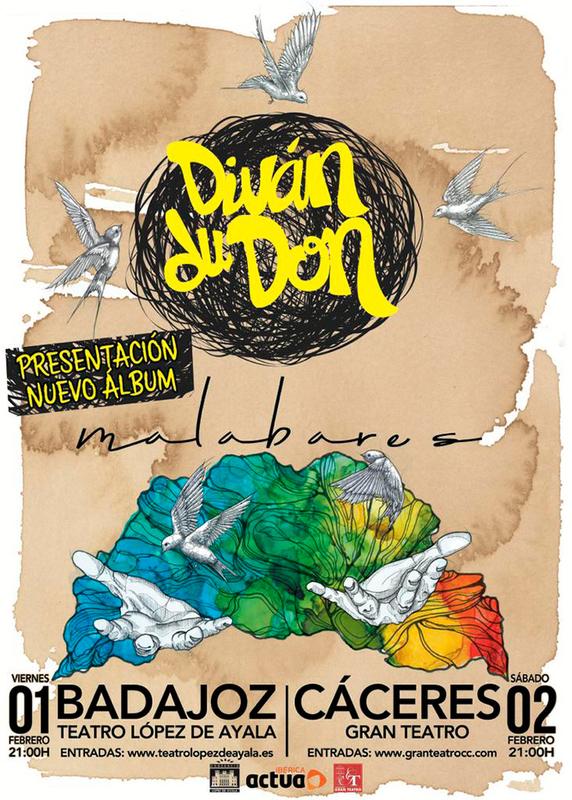 Diván du Don presenta ''Malabares'' el 2 de febrero en el Gran Teatro de Cáceres