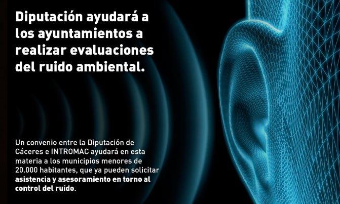 Un convenio entre la Diputación e INTROMAC ayudará a los ayuntamientos a realizar evaluaciones del ruido ambiental