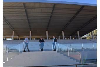 El graderío del campo de Rugby y de las pistas de Atletismo de El Cuartillo de la Diputación estrena cubierta
