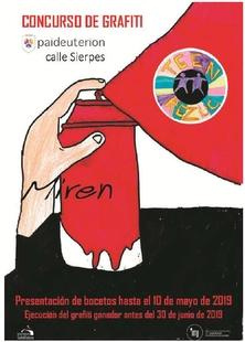 Concurso de GRAFITI Paideuterión de Cáceres (Calle Sierpes)