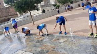 El agua vuelve a nuestra maravillosa plaza