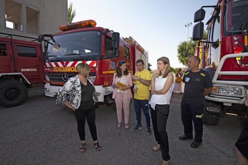 La nueva diputada Isabel Ruiz Correyero visita el SEPEI y prevé un año importante con los tres nuevos parques de bomberos