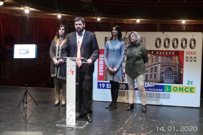 El Gran Teatro de Cáceres, en el cupón de la ONCE