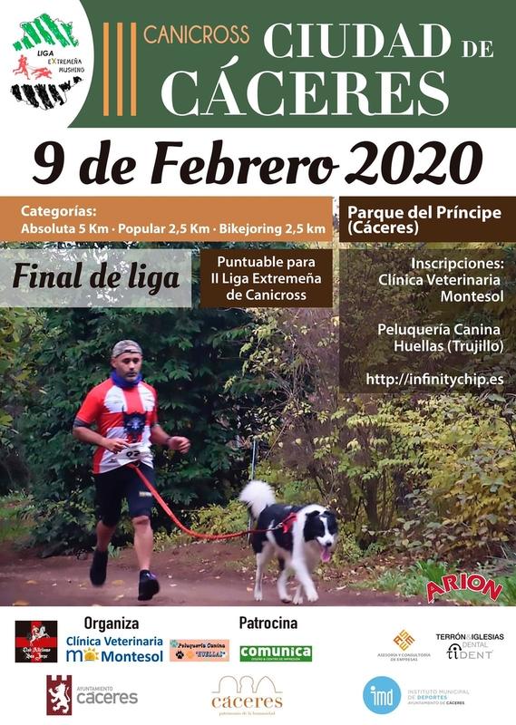 El Parque del Príncipe acoge este domingo el III Canicross Ciudad de Cáceres
