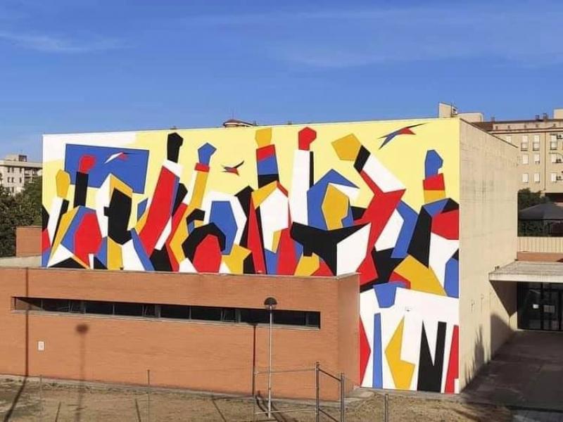Un mural en La Mejostilla homenajea a las mujeres trabajadoras de Induyco