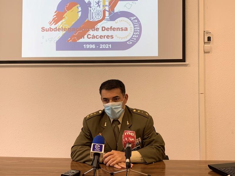La Subdelegación de Defensa en Cáceres celebrará este año su 25 Aniversario con la celebración de actos culturales y conciertos militares