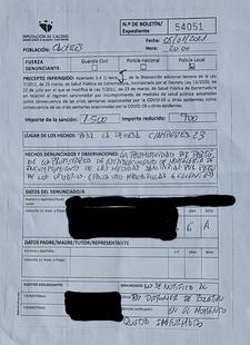 Un hostelero denuncia una multa de 1.500 euros por tener en su local a varios clientes sin mascarilla porque