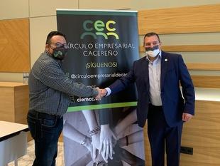 El Círculo Empresarial Cacereño y la Agrupación Vecinal de Cáceres firman un acuerdo para poner en contacto a las empresas con los vecinos