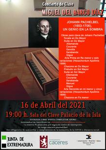 El Palacio de la Isla acoge un concierto de clave, con piezas de 'Johann Pachelbel, tras la recuperación de este instrumento