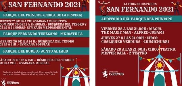 El Ayuntamiento enfoca San Fernando al público familiar e infantil con 'La feria de los peques'
