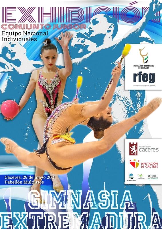 Cáceres acoge el sábado una exhibición del Equipo Nacional Junior de conjuntos de Gimnasia Rítmica en el Pabellón Multiusos