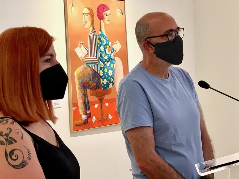 Una exposición del artista extremeño Vito Cano inunda el Palacio de la Isla de color, a través de 24 óleos