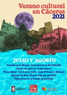 El Ayuntamiento programa 60 actividades para llenar Cáceres de cultura los meses de julio y agosto