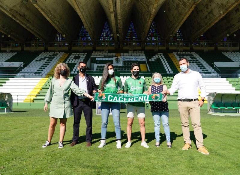 El Club Polideportivo Cacereño y el Club de Fútbol Femenino Cáceres firman un acuerdo para unificar su imagen