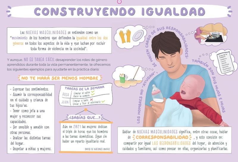 Quince mil calendarios violetas llegan a las aulas de primaria de los colegios de Cáceres para fomentar la igualdad y prevenir la violencia de género