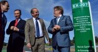 Del Moral inaugura el nuevo tramo de carretera entre Arroyo de la Luz y la N-521